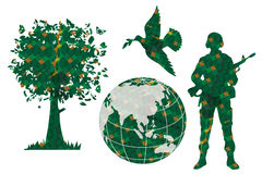 pokoju zielony świat ilustracji