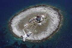 Free Pokonji Dol Lighthouse From Air Stock Photo - 21522470