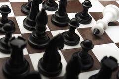 Pokonujący biały szachowy królewiątko obrazy stock