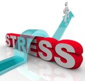 Pokonywać stresu bicia niepokój Skacze Nad słowem Obraz Royalty Free