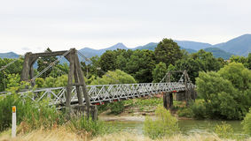 Pokororo swingbridge Stock Photos