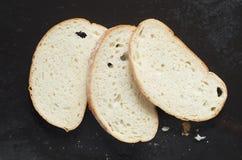 Pokrajać białego chleb obraz stock
