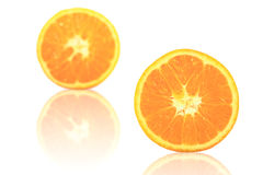 pokrajać owocowa pomarańcze Zdjęcie Stock
