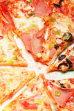 pokrajać pizza talerz Obraz Royalty Free