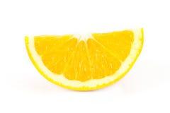Pokrajać pomarańcze na białym tle Zdjęcia Royalty Free