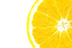 Pokrajać pomarańcze na białym tle Obrazy Royalty Free