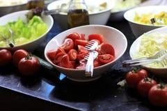 Pokrajać ot pomidory Fotografia Royalty Free