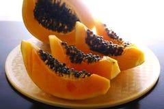 pokrajać owocowy melonowiec Zdjęcia Royalty Free