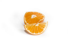 pokrajać tangerine Obraz Royalty Free