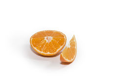 pokrajać tangerine Obrazy Royalty Free