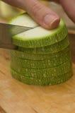 pokrajać zucchini Obrazy Royalty Free