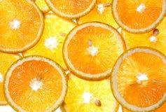 pokroić pomarańcze obraz royalty free