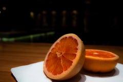 pokroić pomarańcze Fotografia Royalty Free