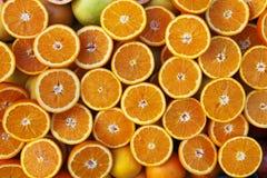 pokroić pomarańcze Obrazy Royalty Free