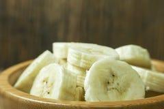 Pokrojeni banany, zakończenie Obraz Stock
