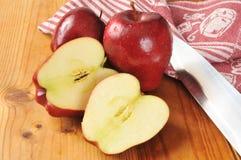Pokrojeni jabłka zdjęcia stock