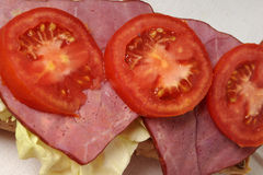 pokrojeni mięso pomidory Zdjęcie Royalty Free