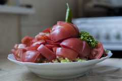 pokrojeni pomidorów Zdjęcie Stock