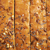 Pokrojona białego chleba bochenka skorupa Zdjęcie Stock