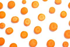 Pokrojona dojrzała marchewka zdjęcie stock