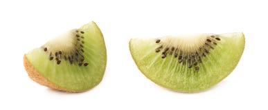 Pokrojona kiwifruit sekcja odizolowywająca Obrazy Royalty Free