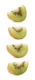 Pokrojona kiwifruit sekcja odizolowywająca Zdjęcie Stock