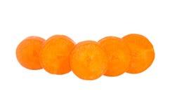Pokrojona marchewka odizolowywająca na bielu Zdjęcie Stock