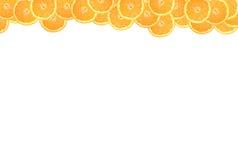 Pokrojona pomarańcze na białym tle Zdjęcie Royalty Free