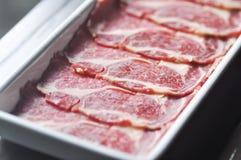 Pokrojona wołowina, wołowina lub surowa wołowina, Zdjęcia Stock