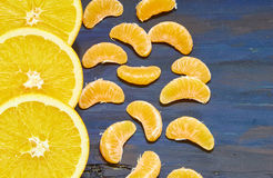 Pokrojone €‹pomarańcze Zdjęcie Stock