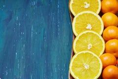 Pokrojone €‹pomarańcze i tangerines Obrazy Royalty Free