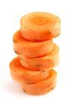 Pokrojone marchewki Zdjęcie Stock