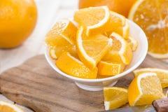 Pokrojone pomarańcze Fotografia Stock