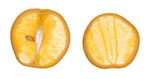 Pokrojone pomarańcze Zdjęcia Royalty Free