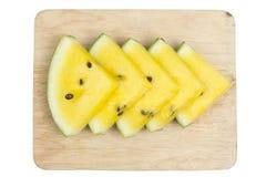 Pokrojony żółty arbuz Zdjęcie Royalty Free