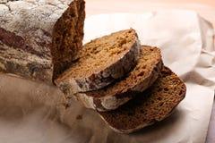 Pokrojony żyto chleb, zakończenie Obrazy Royalty Free