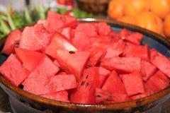 Pokrojony arbuz w lecie zdrowa żywność Zdjęcia Stock