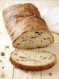 Pokrojony chleb na drewnianym stole Fotografia Royalty Free