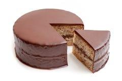 Pokrojony czekoladowy ganache torta funt Obraz Stock