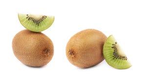 Pokrojony i rżnięty kiwifruit skład Zdjęcia Stock