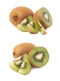 Pokrojony i rżnięty kiwifruit skład Zdjęcie Stock