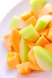 Pokrojony melon zdjęcie stock
