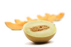 Pokrojony melon fotografia stock
