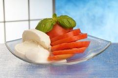 pokrojony mozzarella pomidor Zdjęcie Stock