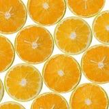 Pokrojony pomarańcze wzór Zdjęcia Stock