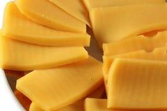 Pokrojony ser na talerzu Zdjęcia Royalty Free