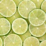 Pokrojony wapno owoc tło Zdjęcia Stock
