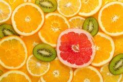 Pokrojony zdrowy owoc tło Zdjęcia Royalty Free