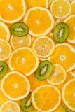 Pokrojony zdrowy owoc tło Fotografia Royalty Free