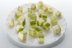 pokrojony zucchini Obraz Royalty Free